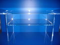 Table, bureau en plexiglas